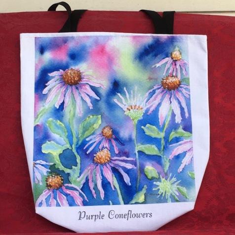 shelleyFreese_PurpleConeflowers_tote
